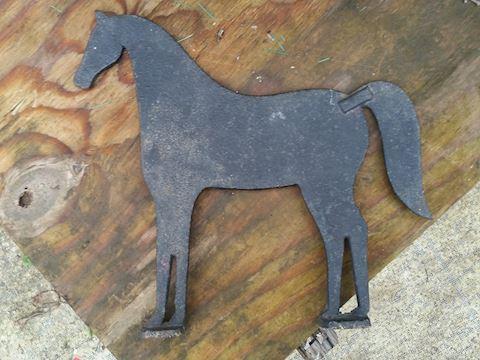 rustic iron Horse boot scraper