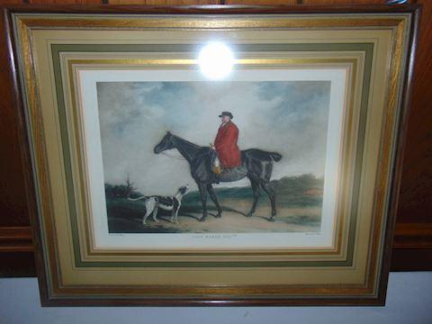 John Warde framed print