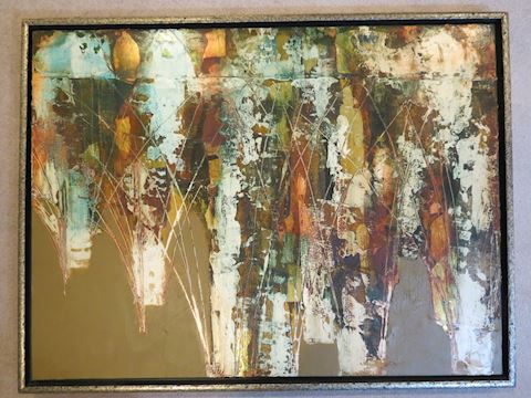 Impressive Mid-Century Abstract Painting 32 x 42