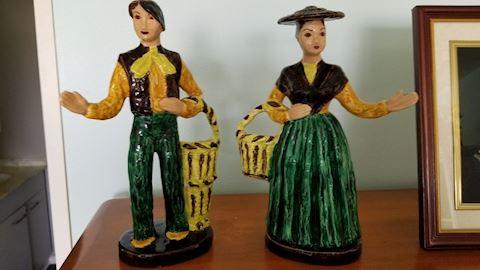 Vintage Hedi Schoop ceramic figurine pair