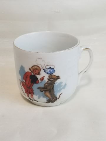 Vintage small buster brown abc white cup mug