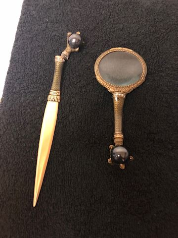 Letter opener and eye glass