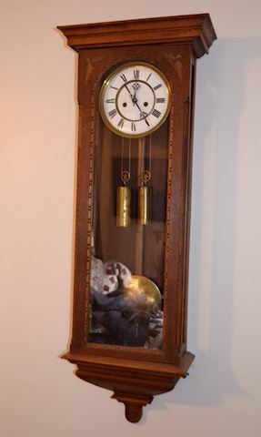 Old Gustave Becker Vienna Wall Clock