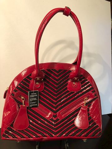 New red leather purse by Sharif