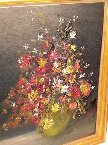 Oil on Canvas Floral Original Signed Art Gay Smith