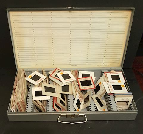 Vintage Kodak Film Slides with Metal Case