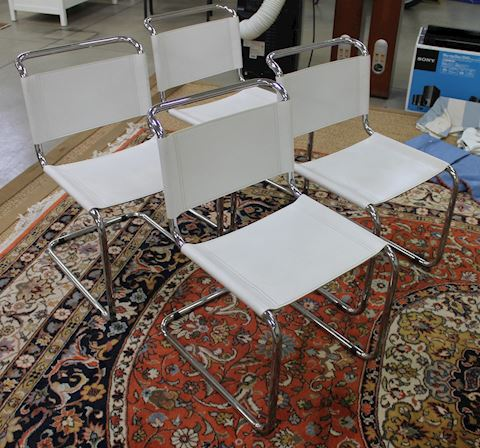 Set of 4 MCM Tubular Chrome Chairs