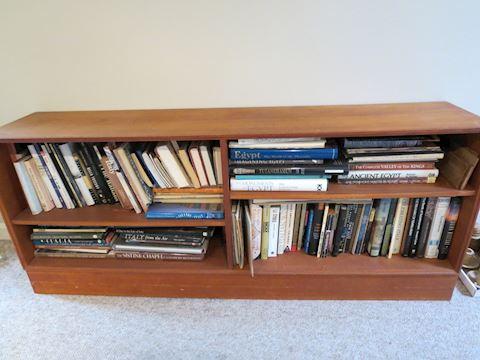Mid Century Danish Teak Low Bookshelf