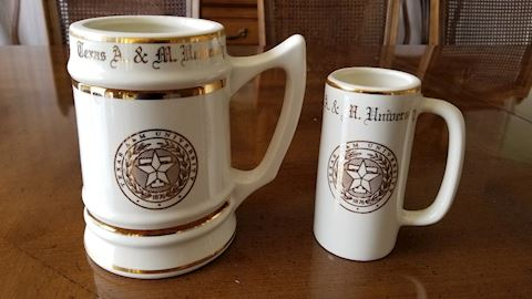 Texas A&M collectible mugs