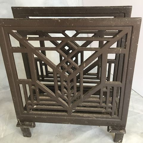 Cast Iron Mission Arts & Crafts Style Rack