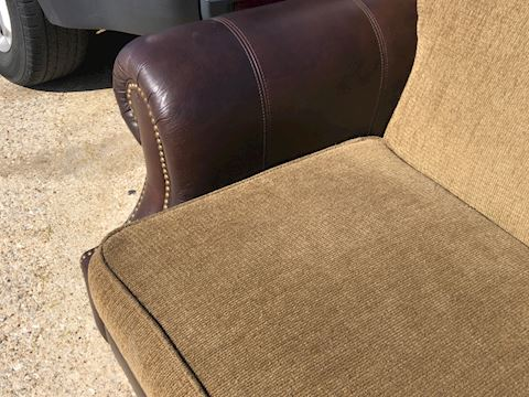 Faux Leather Upholstered Sofa Lot04