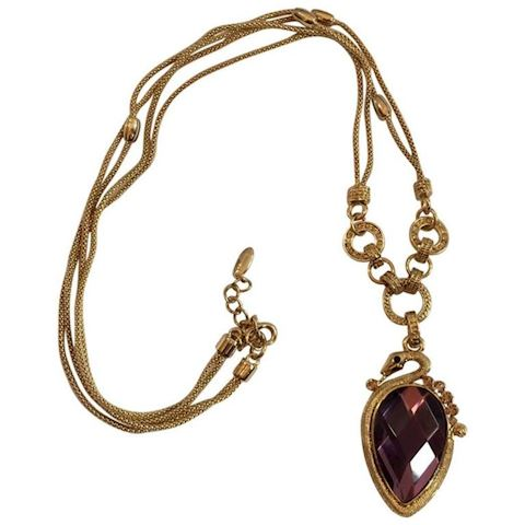 Swavorski Necklace Amethyst Gem Lovely