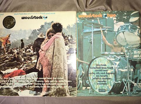 2 Vintage Woodstock Album Sets
