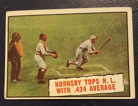 Old Rogers Hornsby Baseball Card #404