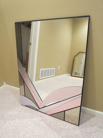 Contemporary David Marshall Wall Mirror w Pink
