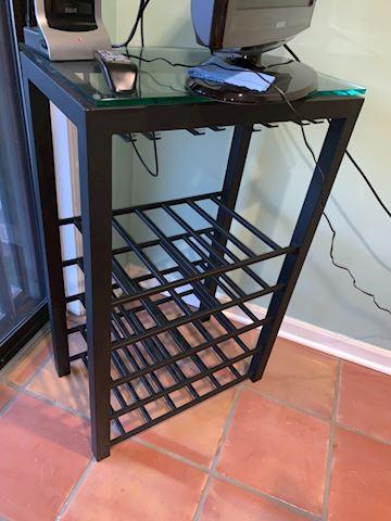 Glass top wine cabinet