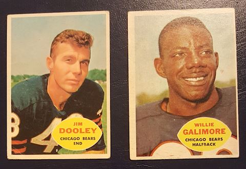 2 Old Chicago Bears Football Cards