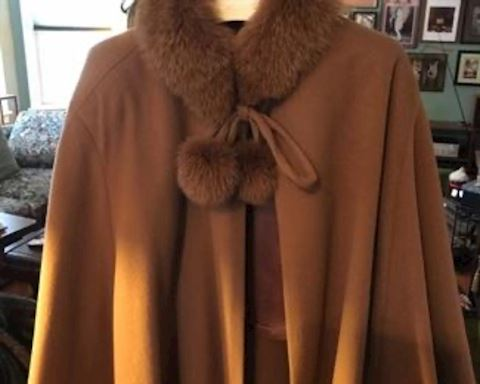 Fabulous Fur and Cashmere cape
