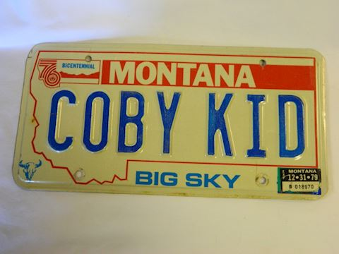 1979 MT Centennial COBY KID plate