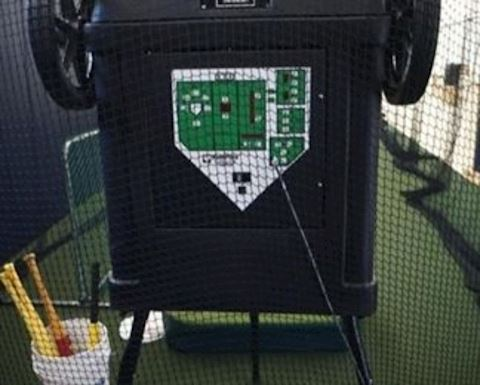 Home Plate by Sports Tudor Pitching Machine