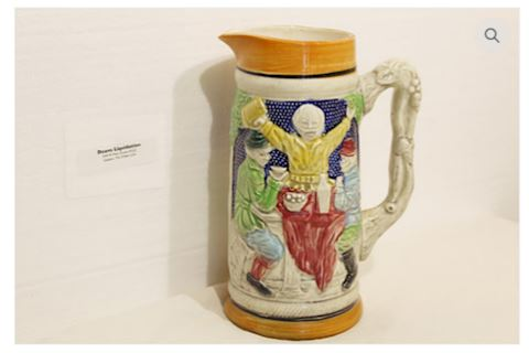 Beer Mug Stein Hand Painted Made in Germany 1950s