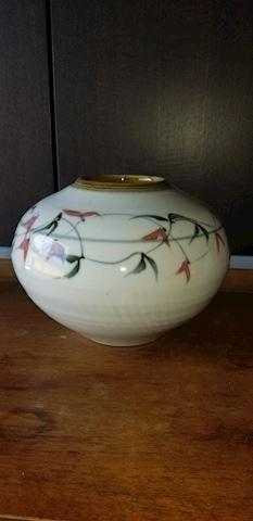 Asian designed vase artist signed