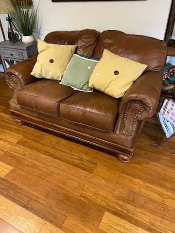 Broyhill leather loveseat