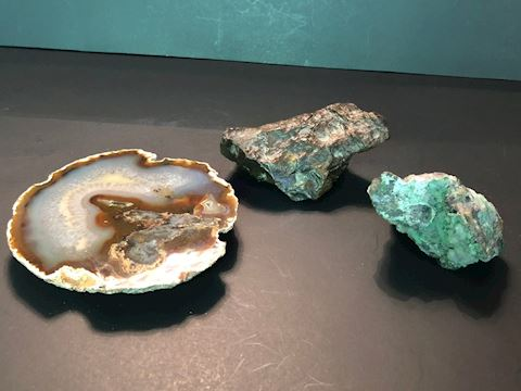Crystals, Agate and Petrified Wood
