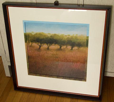 Framed Print Orchard Scene