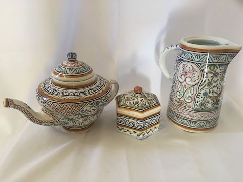 Lot of Hand Painted Ceramics