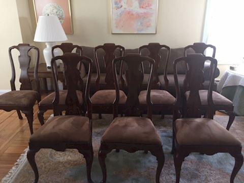 Lot of 8 Henredon 18th Century Dining Chairs