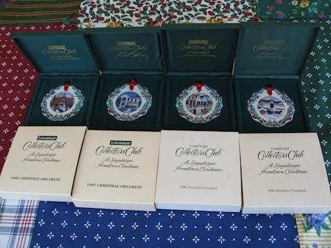 1996, 97, 98, 99 Homestead Christmas Ornaments