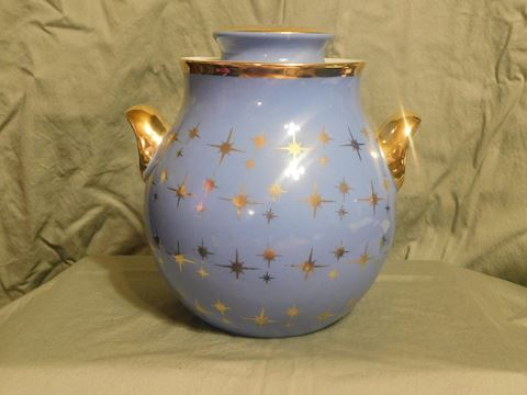 Hall Superior Cadet Blue Cookie Jar with cover