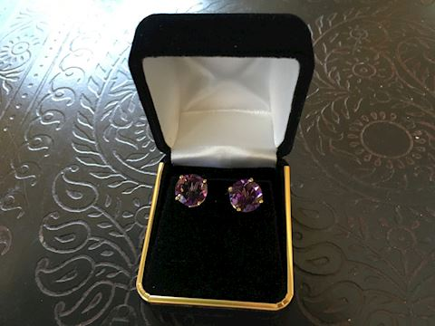 4.60 CTTW  Pau D'Arco Amethyst Earrings  New