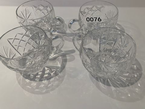 0076 Crystal punch bowl cups