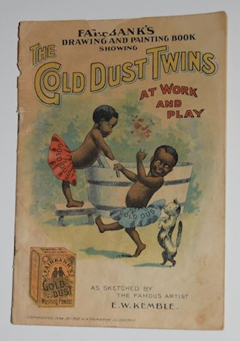 Antique 1904 Cold Dust Twins Drawing/Painting Book
