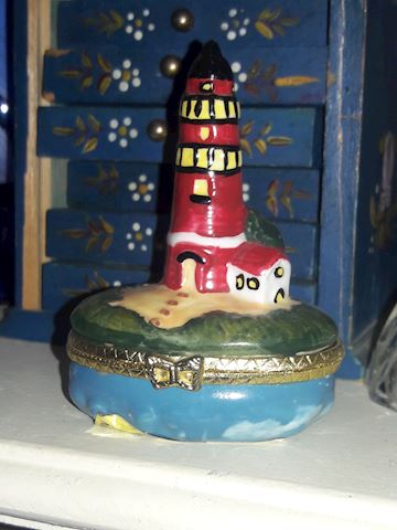 Young Lighthouse Trinket Box