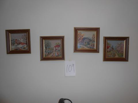 Lot #109 Set of embroidered small pictures