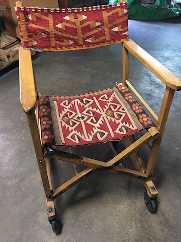Vintage Wooden Wheelchair