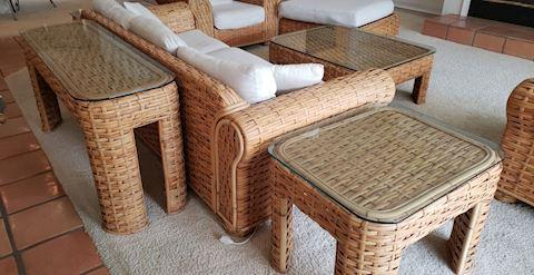 Gorgeous 8 Piece Rattan Living Room Set