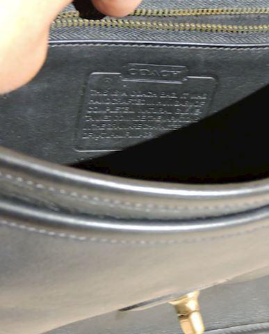 Coach Handbag Leather Black (Excellent Condition)