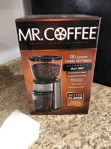 Mr Coffee Burr mill coffee grinder 18 settings