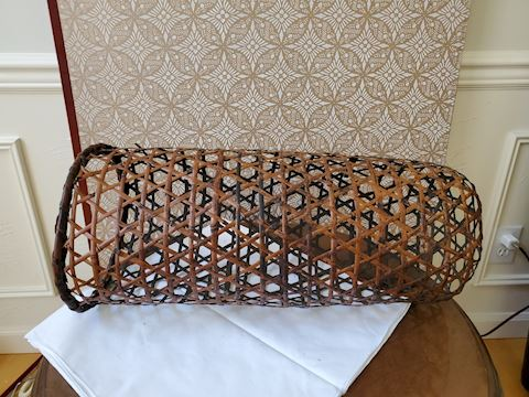 Tall large open weave basket