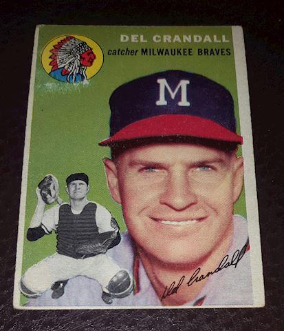 1954 Del Crandall Milwaukee Braves Baseball Card