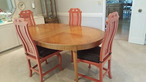 100 Custom Dining  Set w/6 Chairs