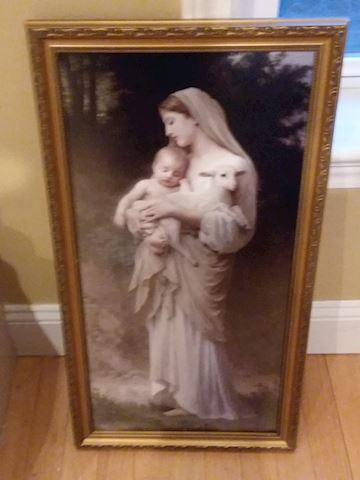 "Bouguereau ""L'Innocence"" Woodcraft Framed Art"