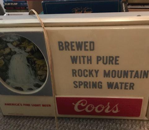Vintage Coors barlight