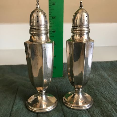 Sterling Silver Salt/Pepper Shakers (not weighted)