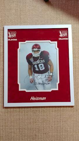 2003 Heisman Trophy #18 Jason White Signed Photo