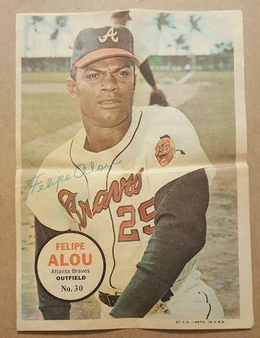 Old 1967 Felipe Alou Topps Poster Insert #30